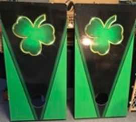 St. Patrick's Day, Irish Cornhole boards with regulation bags
