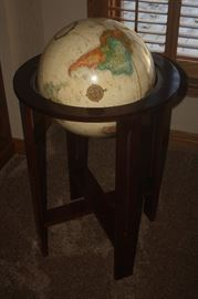WORLD GLOBE ON STAND