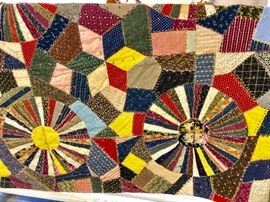 Antique handmade Crazy Quilt