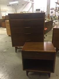 Mid-Century Dresser and Night Stand