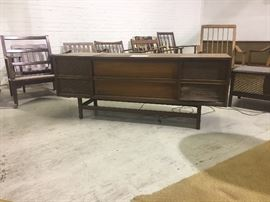 Mid-Century Stereo Console