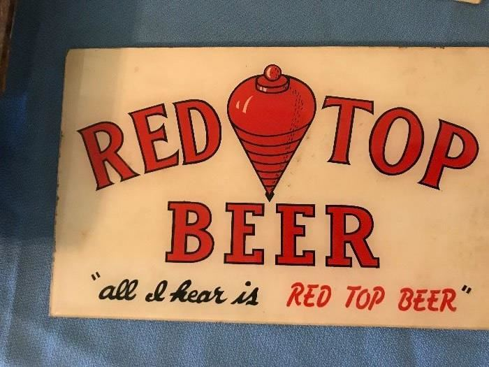 Old Advertising Sign- Red Top Beer
