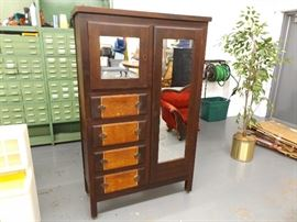 Antique Solid Wood Deco Armoir