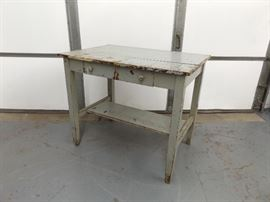 Antique Solid Wood Work Table