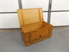 Vintage Scandinavian Solid Wood Storage Box