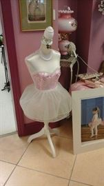 Adorable ballerina dress form.  We also have full size dress forms.