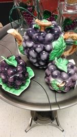 Various grape decorated items.