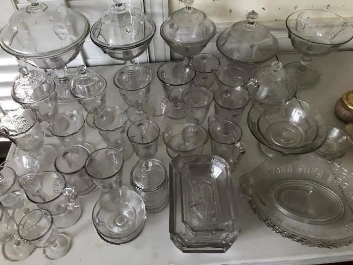 "Adams ""Actress"" Early American Pattern Glass"