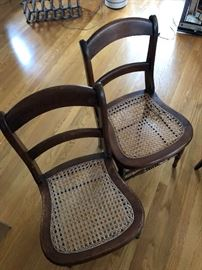 Antique Cane bottom chairs