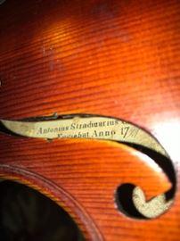 1900s  Stradivarius violin label