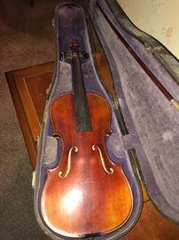 1900s  Stradivarius violin, needs restoration but beautiful