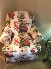 Sherril Floral Upholstered  Chair Without Ottoman