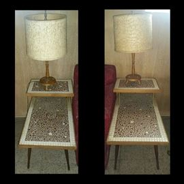 MidCentury Modern End Tables With Lamps