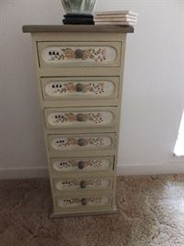 small painted cabinet (about 3 ft high)