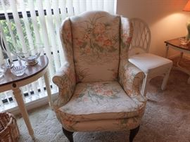 matching wing back chair