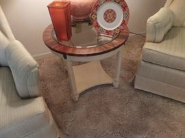 matching round side table