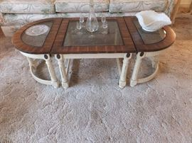 Italian provincial table set - 3 piece coffee table