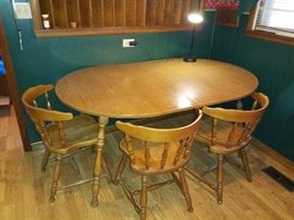 Kitchenv table with chairs