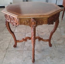 Antique hand-carved  Side table