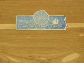 Lakeside craft shops cedar chest