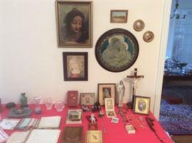 Selection of catholic items.