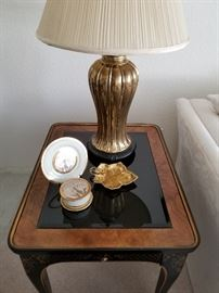 Drexel table and Lamp