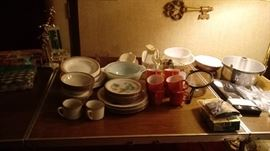 Corelle dishes and kitchen items