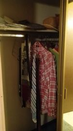 Plaid shirts, vintage ties, dress shirts still in package