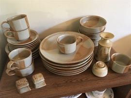 McCoy pottery dinnerware set