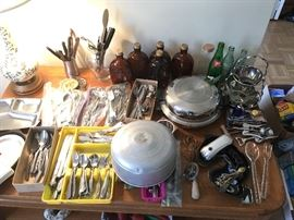 flatware, old bottles and more
