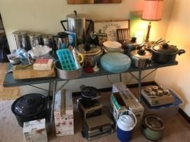water bath canner, small kitchen appliances, lamps, cookware, coffee pots, canister sets and more
