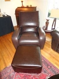 Leather Lay-Z-Boy recliner with built-in massage!