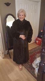Our Carol Marol in a full length fur.