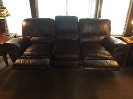 Double Reclining Sofa: Extended