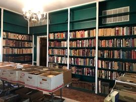 Huge library of books dating back to the 17th century
