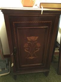 Art Nouveau inlaid nightstand