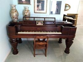 Chickering Square Grand Piano 1830's  $4000
