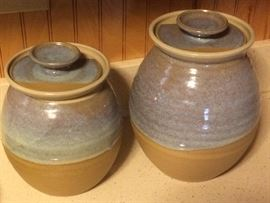 VINTAGE MORGAN POTTERY CANISTERS