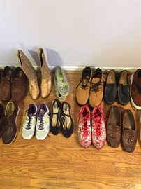 Variety of mostly new shoes, including some worn by players in the NFL.