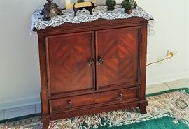 All fine wood cabinet with drawer
