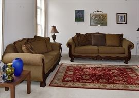 3 seater Sofa + love seat with cushions