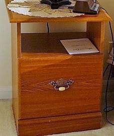Wooden Nightstand with drawer