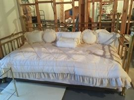 brass day bed