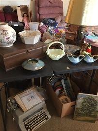 Mid century glassware/ceramics/pottery