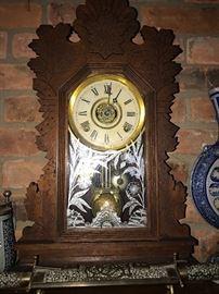 ANTIQUE GERMAN MANTLE CLOCK