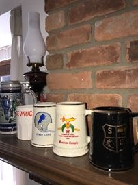 COLLECTION OF BEER STEINS
