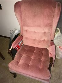 PINK WINGBACK CHAIR
