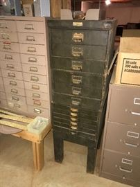 ANTIQUE INDUSTRIAL METAL CABINETS