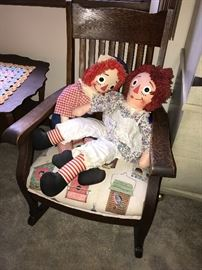 CHAIR AND DOLLS