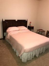 FULL SIZE BED FRAME WITH HEADBOARD AND MATTRESS